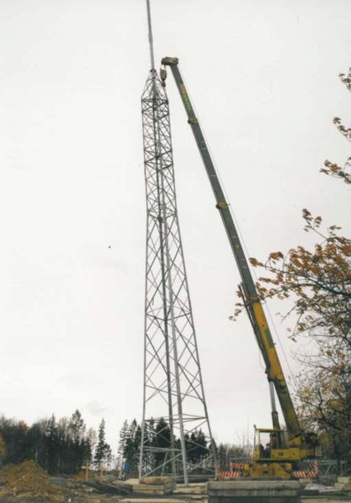Stavba prvního vysílače Radia Čas